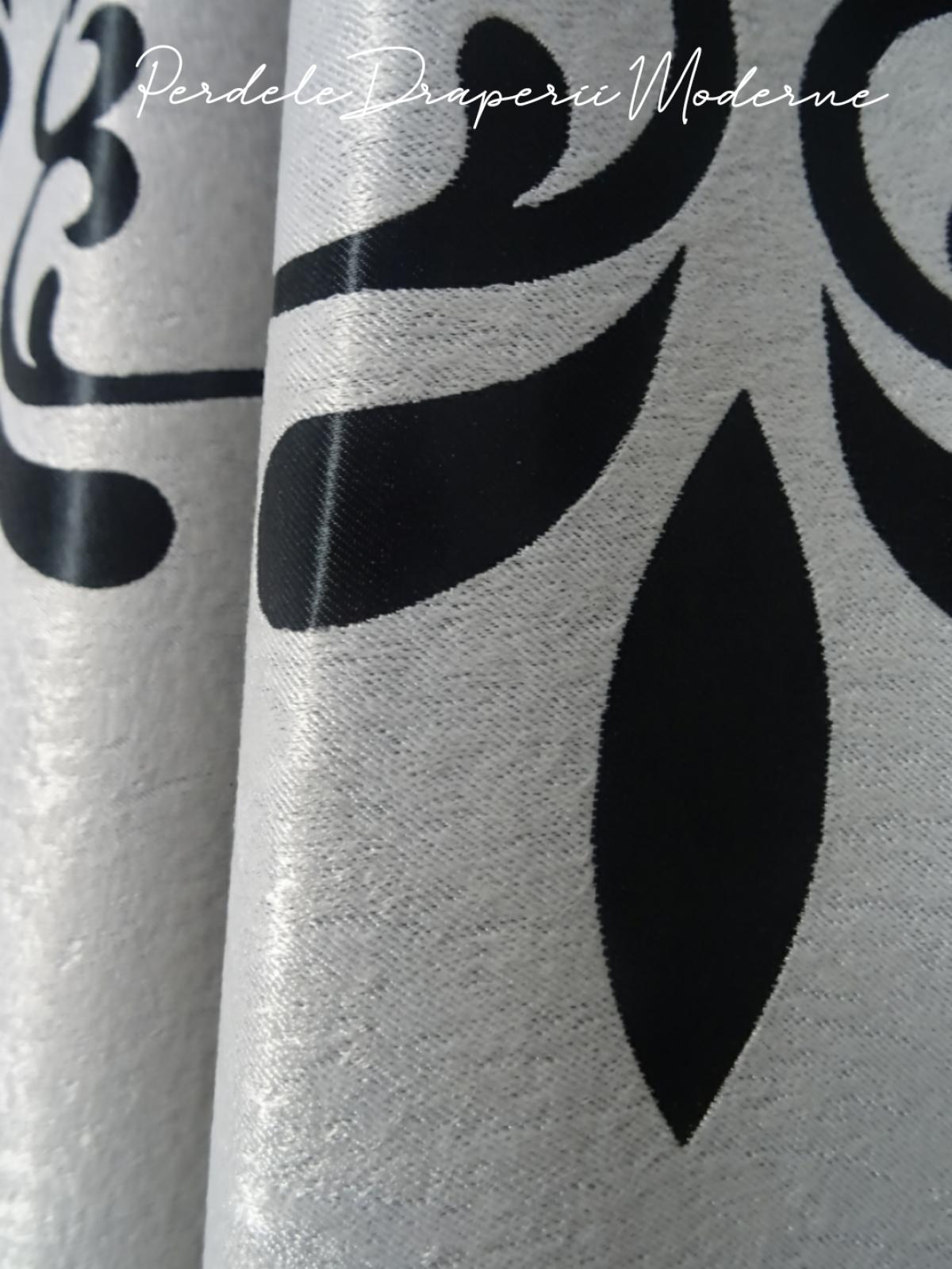 Draperie Blackout,gri/negru imagine 3