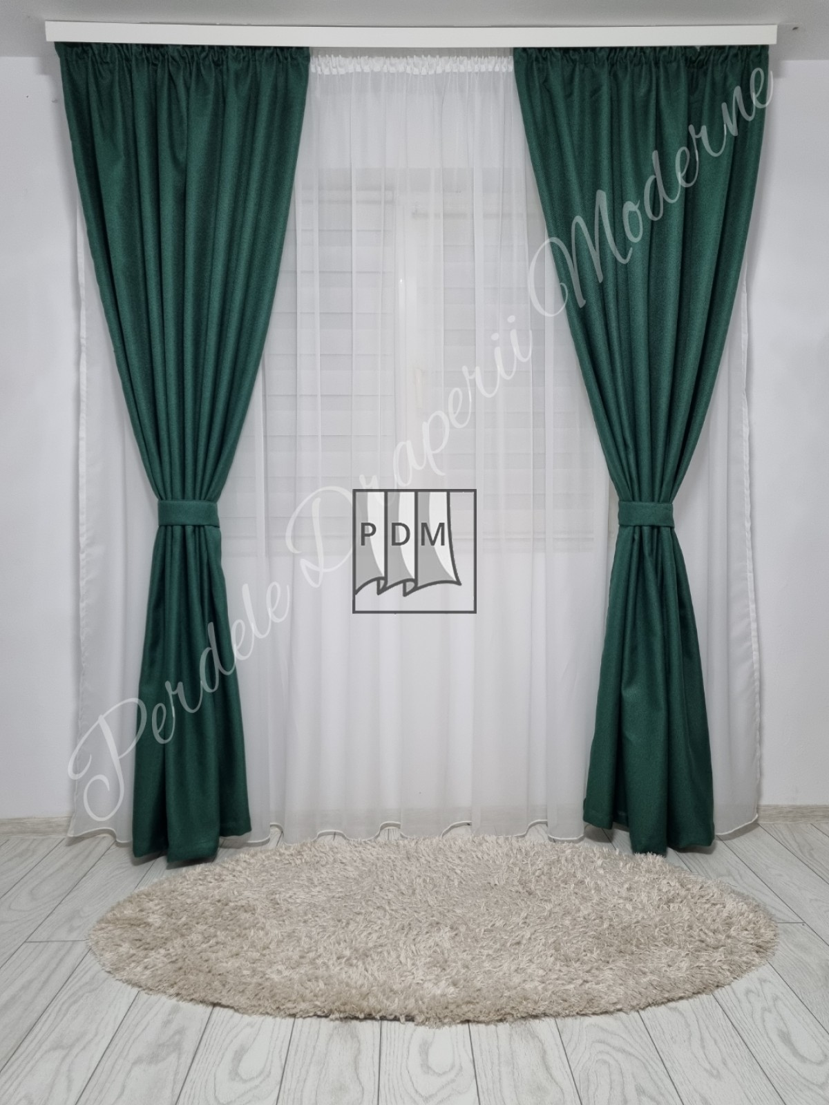 Draperie in blackout,verde smarald imagine 2