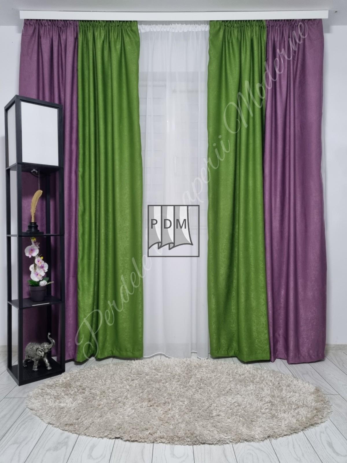poze Draperie soft,verde/lila